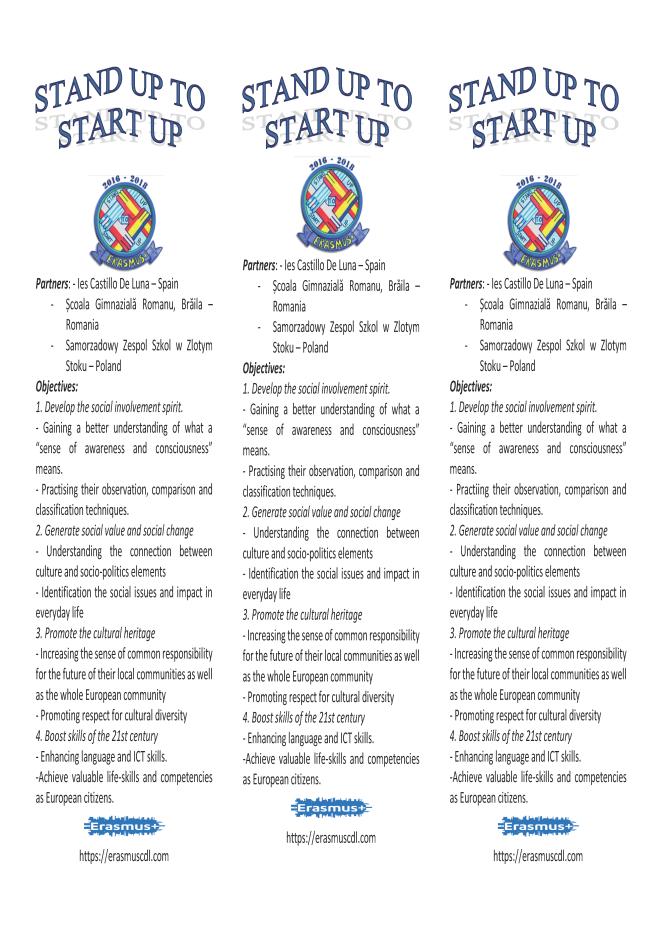 Panfleto informativo con Web